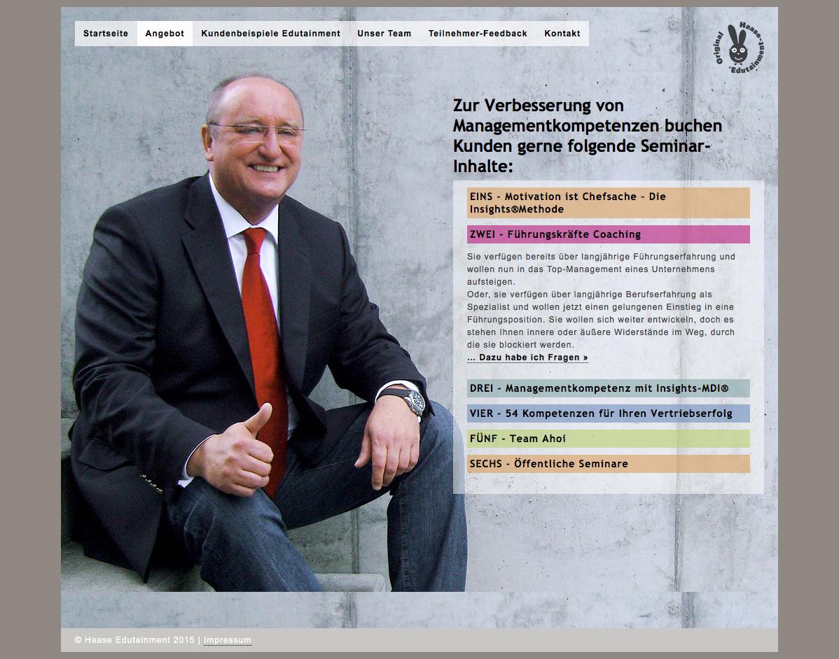Hans Ulrich Haase Edutainment