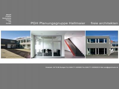 PGH Planungsgruppe Hallmaier freie Architekten