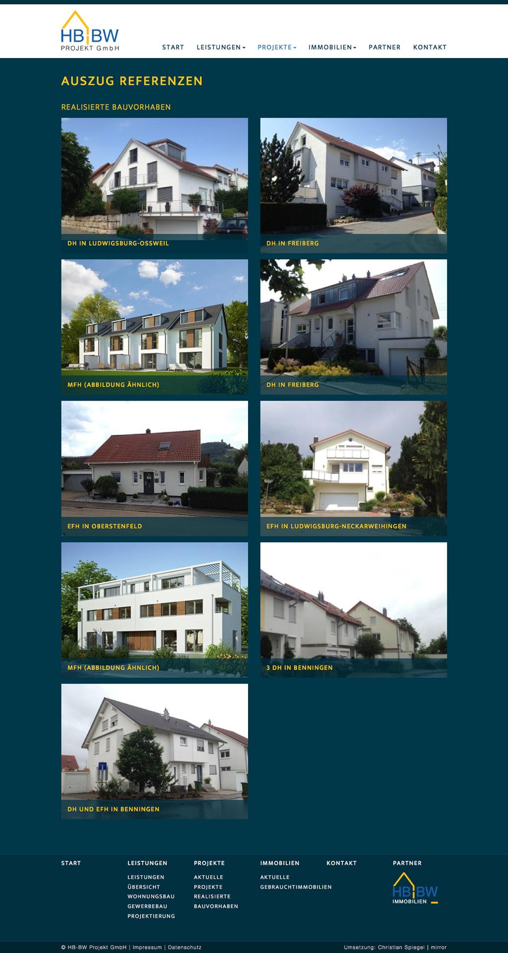 HB-BW Projekt Gmbh und HB-BW Immmobilien