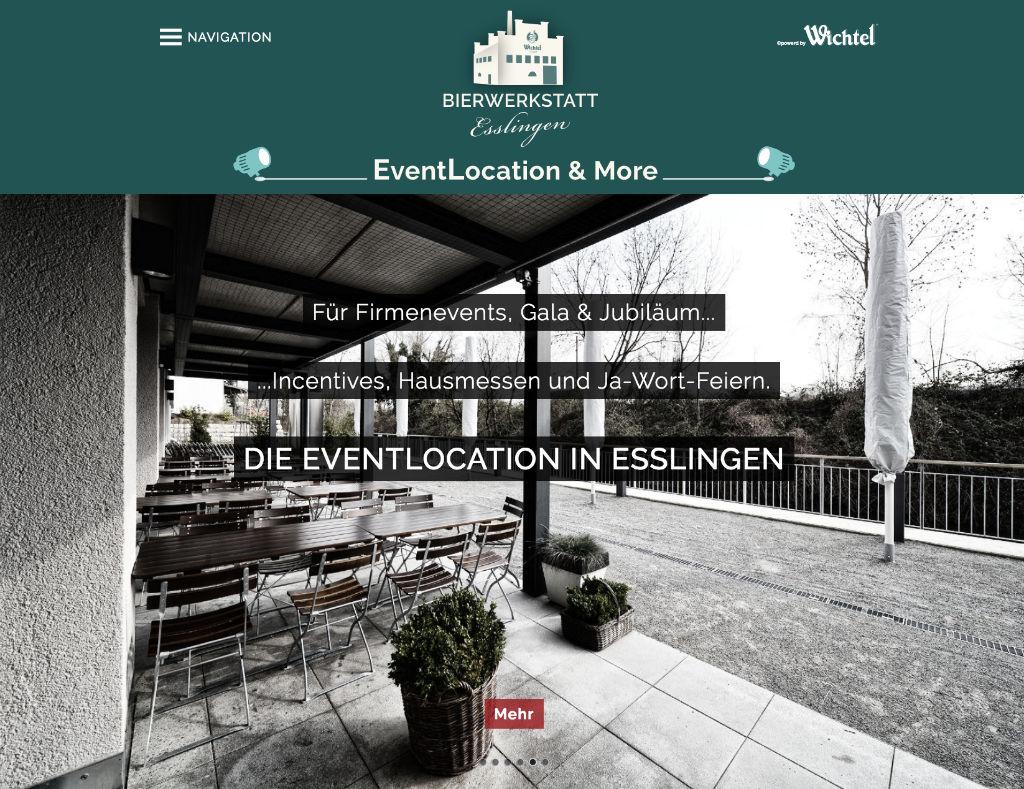 EventLocation Esslingen powered by Wichtel Hausbrauerei